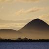 朝靄の近江富士