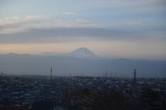 早朝の富士山