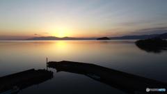 黄昏の漁港