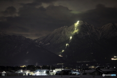 夜の御在所岳