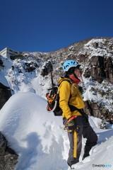大雪の本谷大黒岩