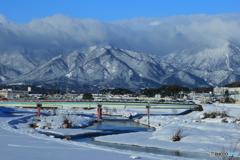 大雪の鈴鹿山脈