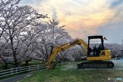 千本桜と重機