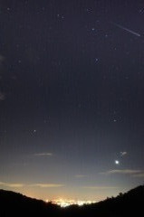 夜明けのしし座流星