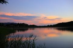 女神湖の夕映え♪