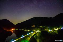 庄川峡の星空