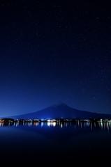 富士と星々