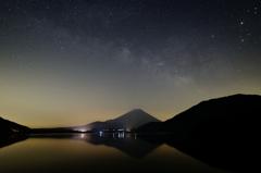 銀河と富士