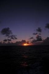おがさわら丸からの夕日3