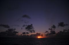 おがさわら丸からの夕日4