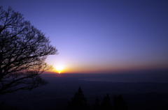 相模湾の日の出