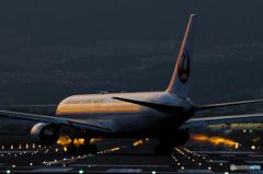 Evening airport