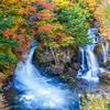 色づく日光の秋