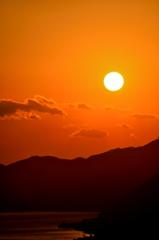 尾道の夕日