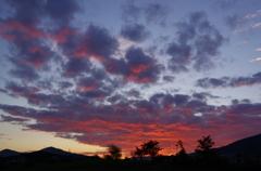 今朝の山中湖の朝焼け