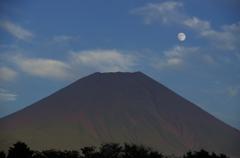 日陰の山頂