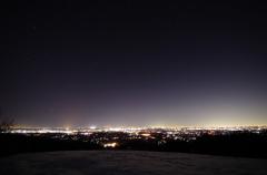 街の灯りと星の煌めき