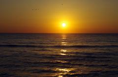 二ツ島海岸からの日の出