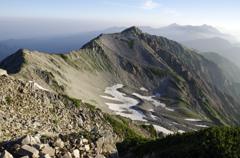 薬師岳山頂から金作谷カール