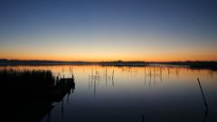 印旛沼・朝景 - 静寂の桟橋 -