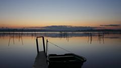 印旛沼・朝景 - 静かに佇む -