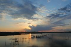 印旛沼・朝景 - ときめきの朝陽 -