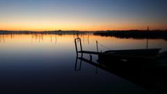 印旛沼・朝景 - 冬の朝ぼらけ -