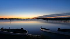 印旛沼・朝景 - 蒼寒の沼畔 -