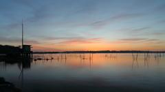 印旛沼・朝景 - 舟戸観測所の夜明け -