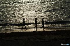 志賀島の夕べ情景