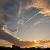 飛行機雲と