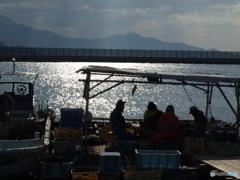 漁師の仕事場
