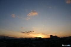 空の夕暮れ
