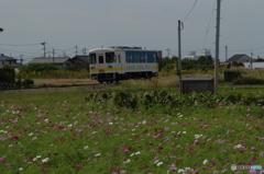 甘木鉄道単線風景
