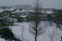雪降る風景