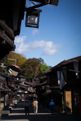秋の空 奈良井宿