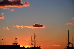 夕景 浮雲 漆山