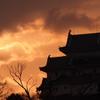 朝焼け 和歌山城