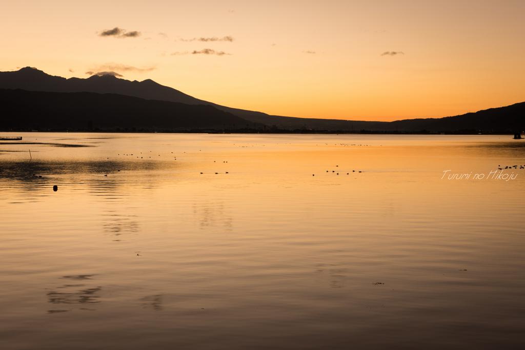 諏訪湖 暁