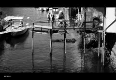 桟橋と自転車と・・・