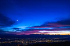 北アルプス~夕景6