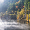 紅葉の自然湖②