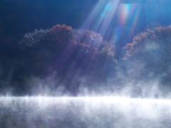 桧原湖の朝景Ⅳ