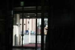 レンガ倉庫の入り口