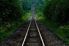線路の風景~美瑛にて