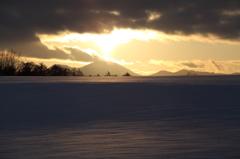 雪原の陰影