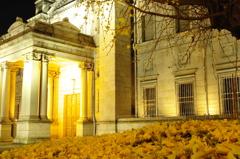 銀杏のある玄関