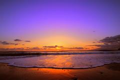 平野の夜明け