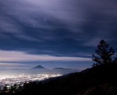 真夜中の空模様