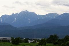 夏の立山連峰剣岳